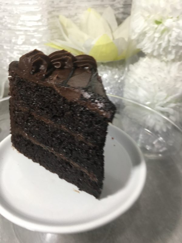 This rich cake, tThis is a moist chocolate cake that will satisfy any chocolate lovers craving..
